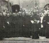 Il Collegio degli scrittori con il card. Pacelli, futuro Pio XII