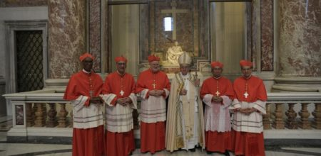 Cinque nuovi cardinali per la chiesa