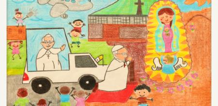 Il valore simbolico dei disegni e il rapporto tra il Papa e i bambini