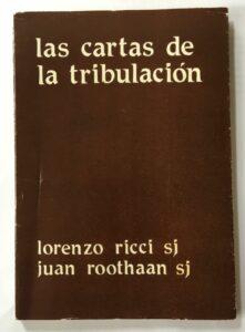 """La copertina del volume """"Las cartas de la tribulacion"""""""