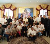 Papa Francesco con i gesuiti del Centro America (foto: Francesco Sforza)