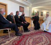 Papa Francesco coi gesuiti a Bratislava